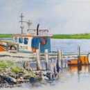 At The Dock Point Aconi Nancy McLean Watercolours (2)