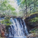 Devil's Hill Falls Nancy McLean Watercolours