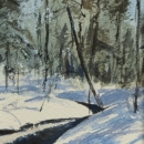 Nancy McLean Watercolours- Winter Brook.JPG