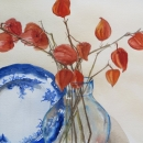 nancy_mclean_watercolours_flow _blue _and _orange