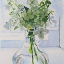 Nancy McLean Watercolours White Hygrangea Bouquet