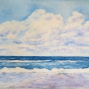 A Large Day Inverness Beach Nancy McLean Watercolours